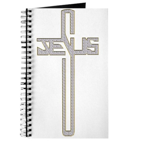 Gold Diamond Jesus Cross Journal