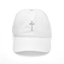 Gold Diamond Jesus Cross Baseball Cap