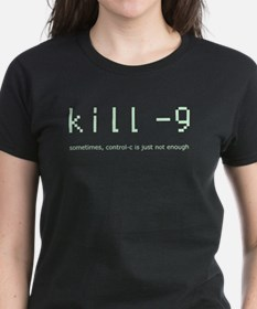 kill -9, with caption. Tee