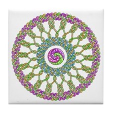 Celtic Spring-Easter Mandala Tile Coaster