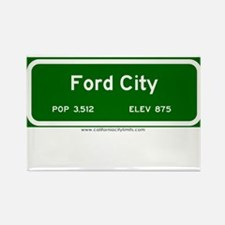 Ford City Rectangle Magnet