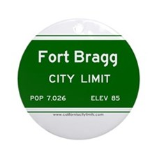 Fort Bragg Ornament (Round)