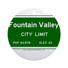 Fountain Valley Ornament (Round)