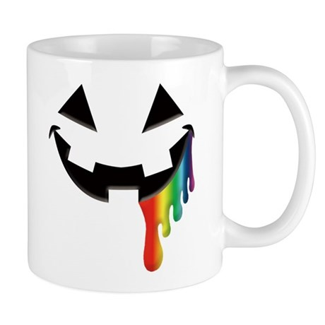 Juicy Rainbow Halloween Black Mug