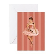 vic-ballerina-pink_13-5x18 Greeting Cards