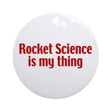 Rocket Science Ornament (Round)