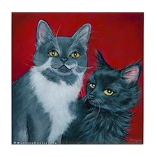 Cats Gus & Jojo Tile Coaster