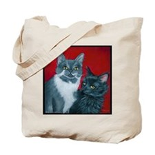 Cats Gus & Jojo Tote Bag