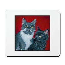 Cats Gus & Jojo Mousepad