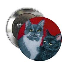 "Cats Gus & Jojo 2.25"" Button"