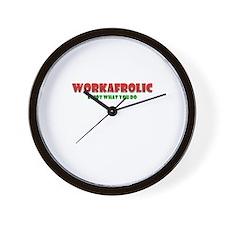 Workafrolic Wall Clock