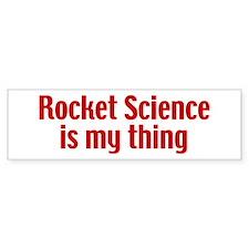 Rocket Science Bumper Sticker