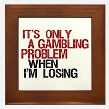 Gambling Problem Framed Tile