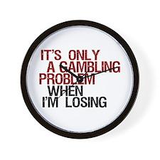 Gambling Problem Wall Clock