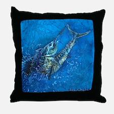 Sailfish Jump Throw Pillow