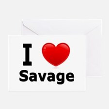 I Love Savage Greeting Cards (Pk of 10)