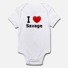 I Love Savage Infant Bodysuit