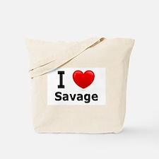 I Love Savage Tote Bag