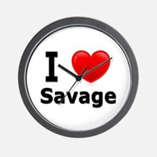 I Love Savage Wall Clock