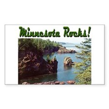 Minnesota Rocks! Rectangle Decal