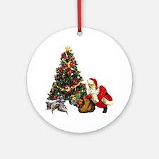 SANTA AND THE MEERKATS Ornament (Round)