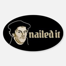 Nailed It Sticker (Oval)