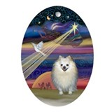 Pomeranian ornament Oval Ornaments
