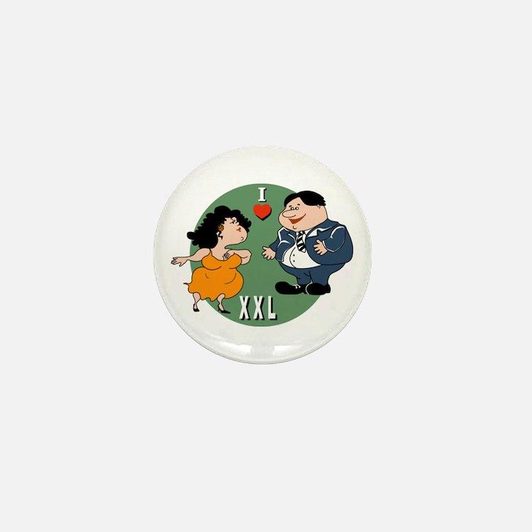 I Love XXLarge Mini Button