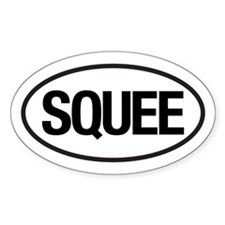 SQUEE Oval Decal