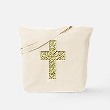 Gold Celtic Knot Cross Tote Bag