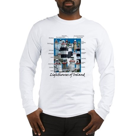 Lighthouses Of Ireland Long Sleeve T-Shirt