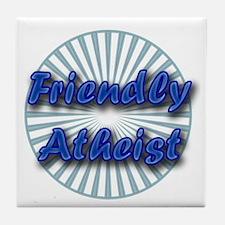 Friendly Atheist Tile Coaster