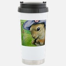 Lady Squirrel in a Hat Travel Mug