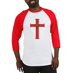 Christmas Cross Holly Baseball Jersey