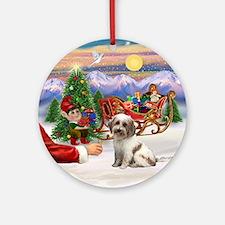 Tibetan Terrier Treat Ornament (Round)