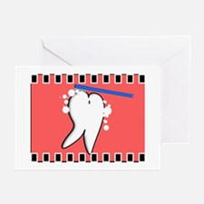 tooth blanket 3 salmon Greeting Cards