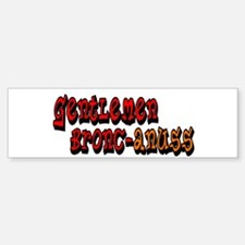 Gentlemen Bronc-anuss Broncos Bumper Bumper Bumper Sticker