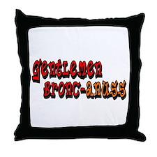 Gentlemen Bronc-anuss Broncos Throw Pillow