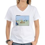 Claustrophobia Clinic Women's V-Neck T-Shirt