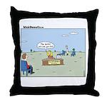 Claustrophobia Clinic Throw Pillow