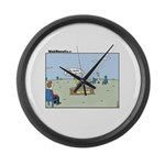 Claustrophobia Clinic Large Wall Clock