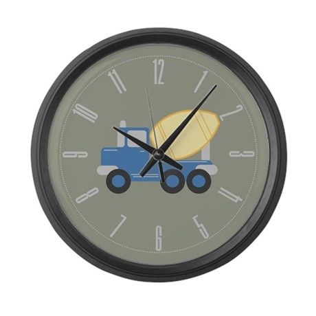 Little Cement Truck Large Wall Clock