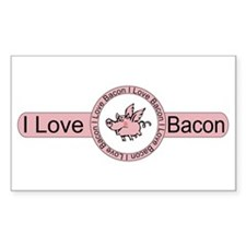 I Love Bacon Rectangle Decal