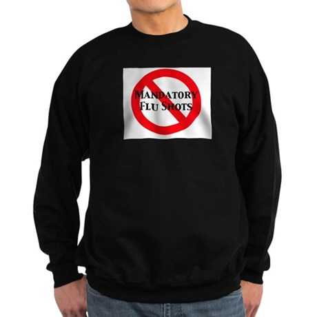 CRNA No Mandatory Flu Shots Sweatshirt (dark)