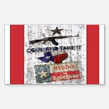 Debra Medina Texas Governor 2 Rectangle Decal