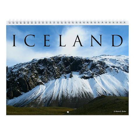 "Iceland Calendar, 8.5x11"""