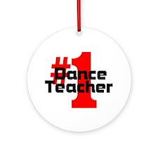 #1 Dance Teacher Christmas Ornament