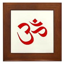 Cute Namaste Framed Tile