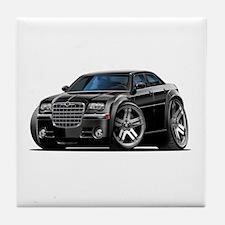 Chrysler 300 Black Car Tile Coaster