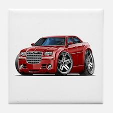 Chrysler 300 Maroon Car Tile Coaster